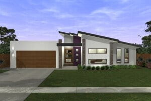 Cooper modern Luxury home Perspective front view