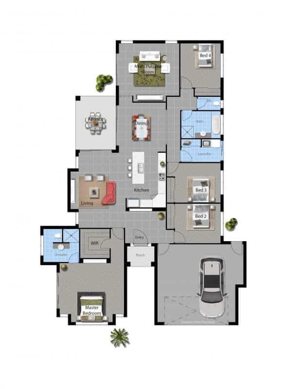 David Reid Homes Barwon House floor plan
