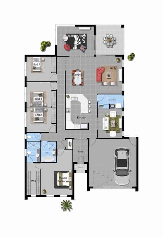 David Reid Homes flinders house floorplan