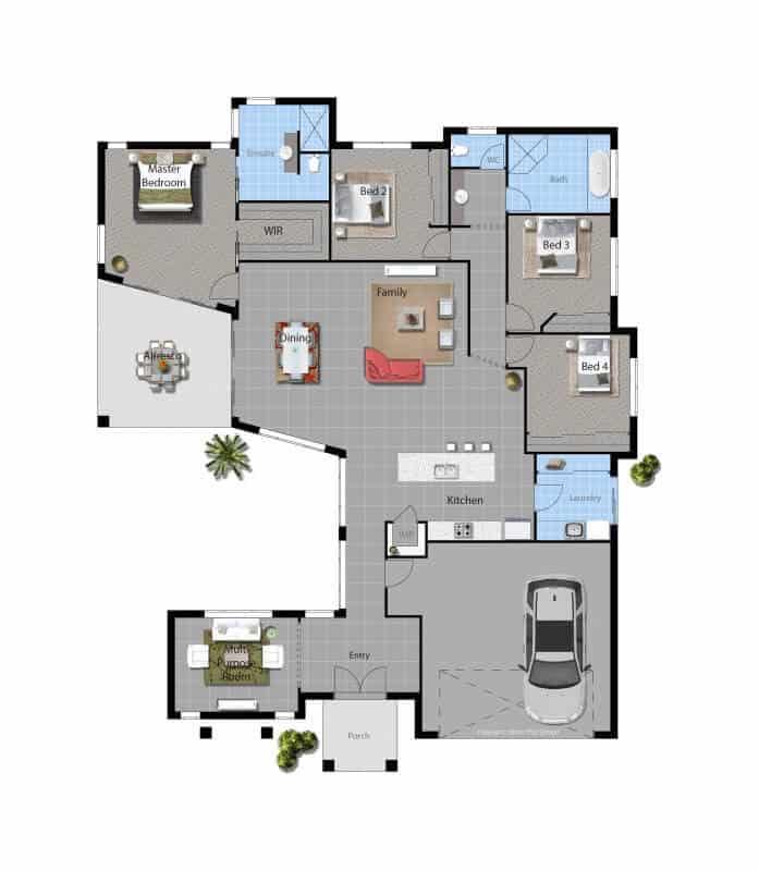 custom home Goulburn Luxury floor plan