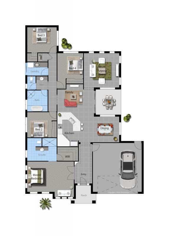 custom home Johnson floor plan