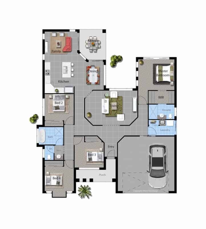 David Reid Homes Lachlan house floor plan