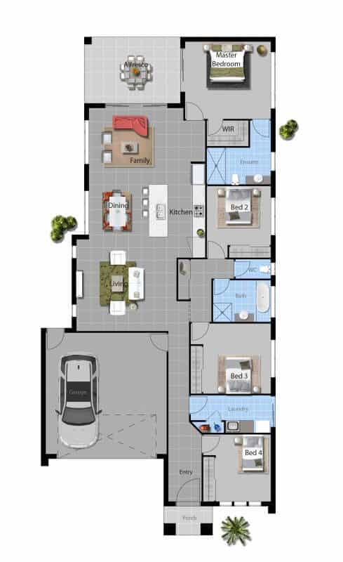 David Reid Homes Macquarie house floor plan