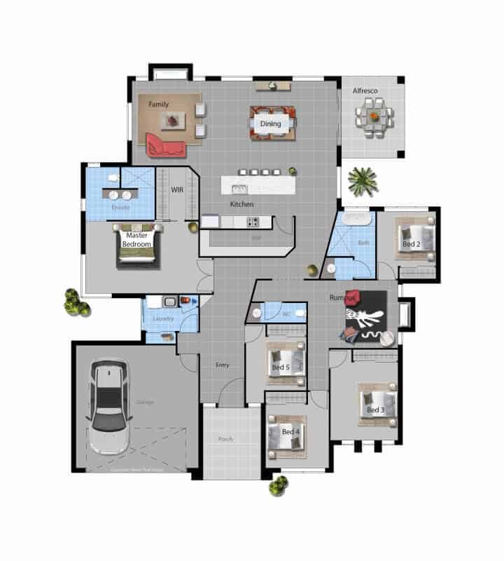 custom home Margaret floor plan