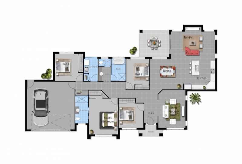 David Reid Homes Murrumbidgee house floor plan