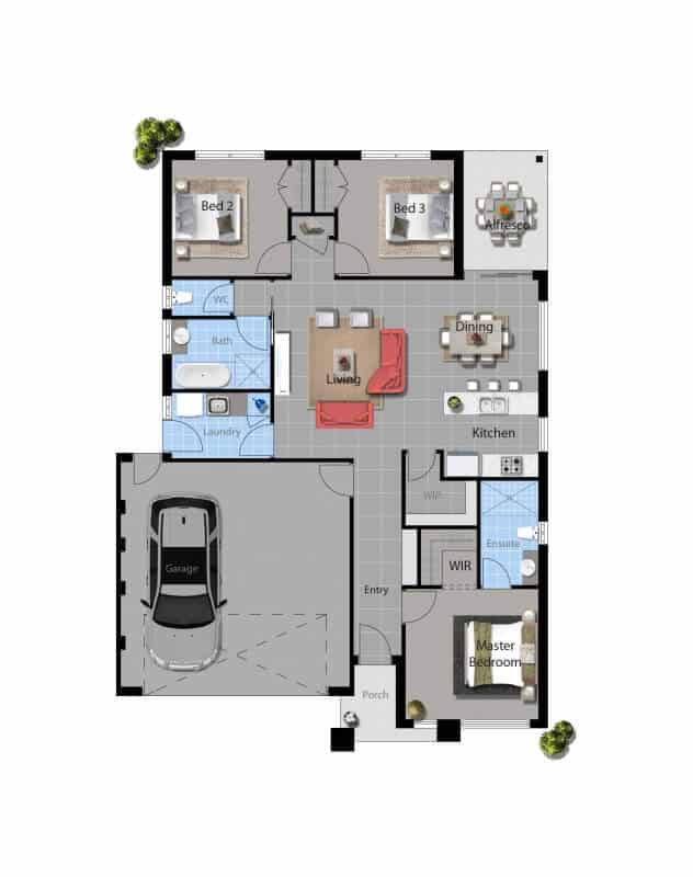 David Reid Homes tabitha house 3D floor plan