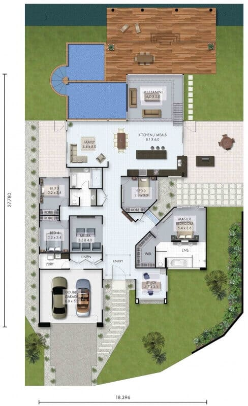 Luxury home baja floor plan