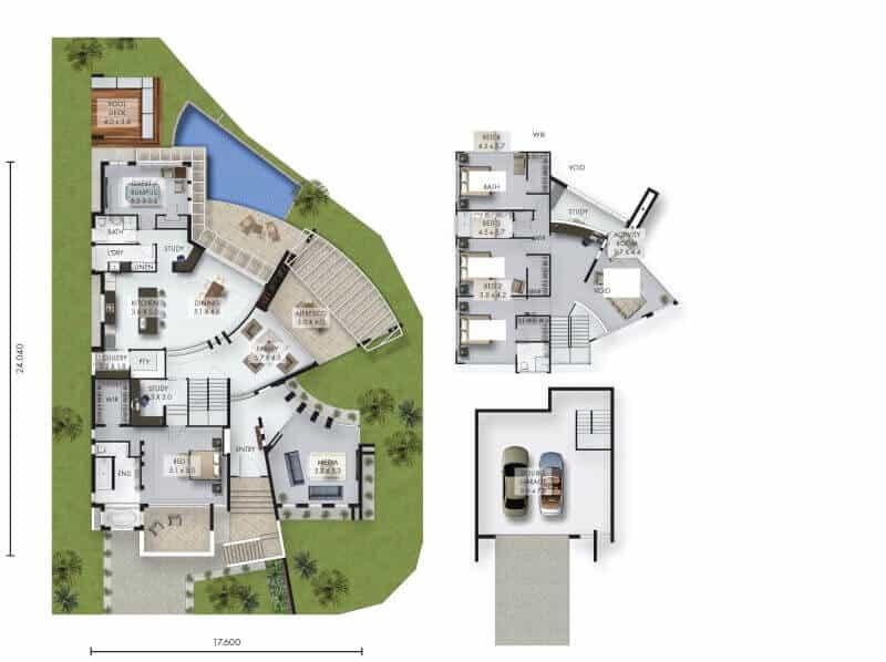 David Reid Homes Luxury home Cherrybrook floor plan