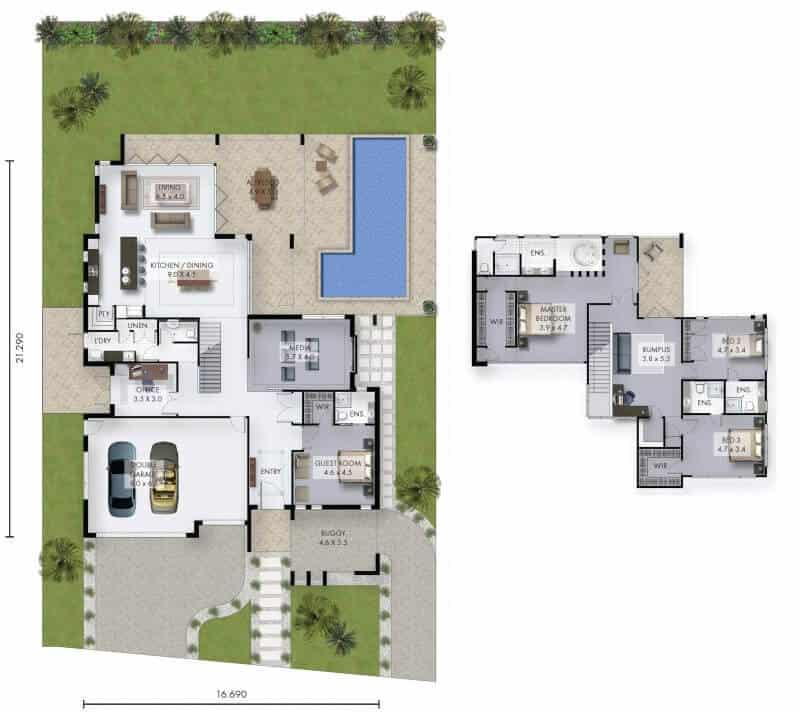David Reid Home fairview house floor plan