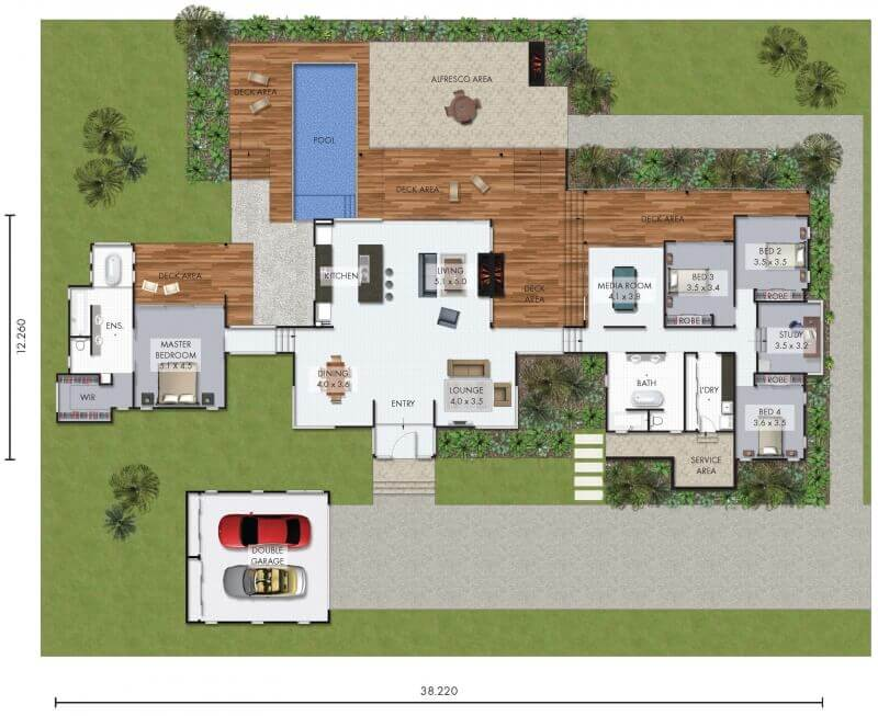 David Reid Homes Luxury Home Flynt floor plan