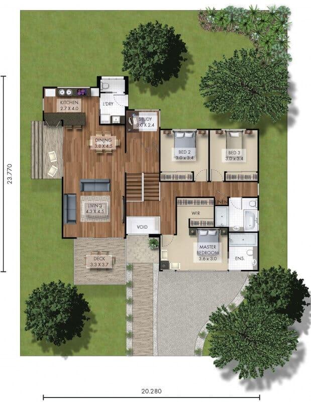 David Reid Homes pulbah house floor plan