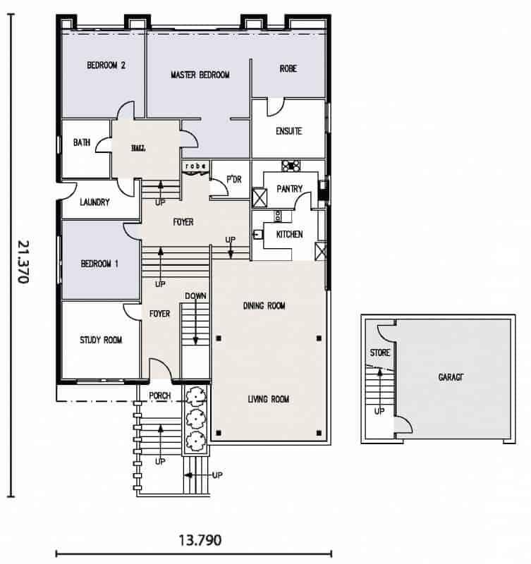 David Reid Homes Shearwater house floor plan