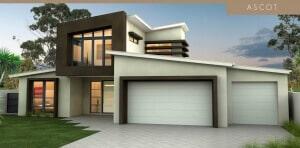 ascot house plan facade