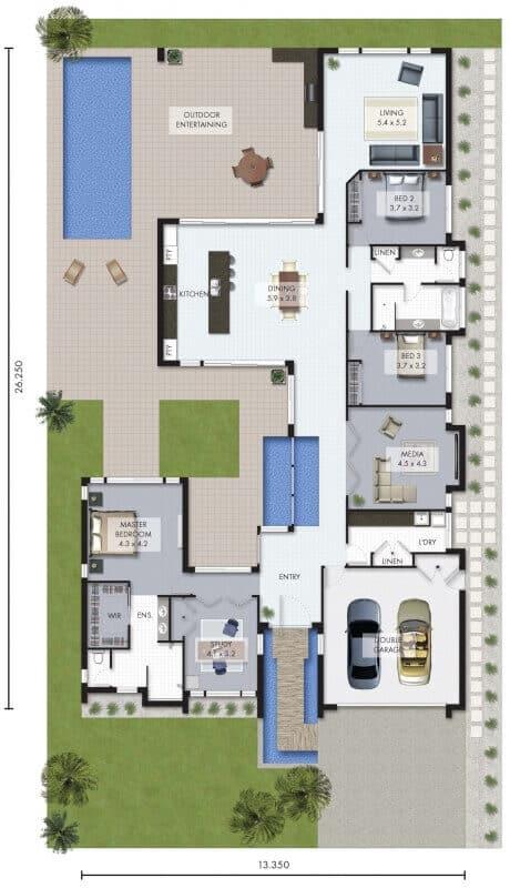 catalunya house floor plan