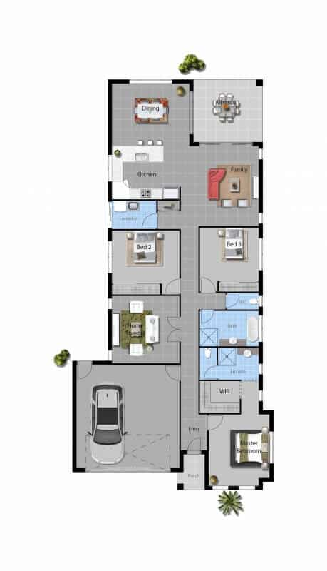 Davide Reid Homes Naomi Modern house floor plan