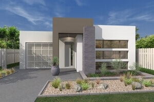 torrens modern house perspective front view
