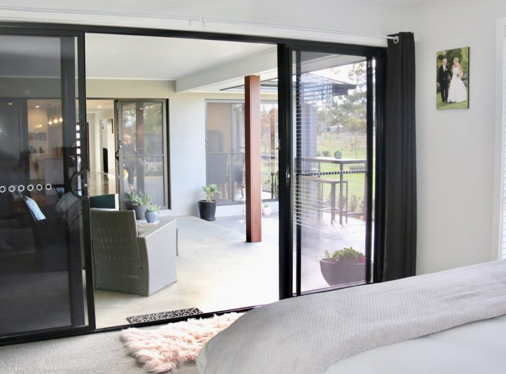 Alfresco meets bedroom and living creating a cozy area for entertaining.